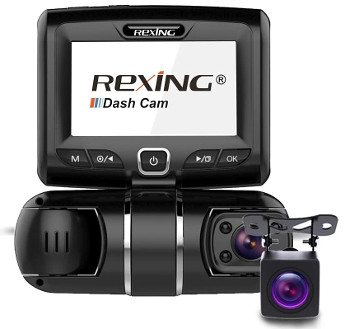 REXING S1 3 Channel Dash Cam