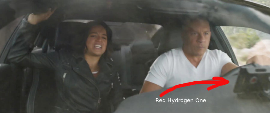 Red Hydrogen One in Fast & Furious 9 Movie