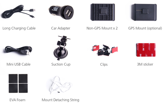 A119 Pro Dash Cam Accessories