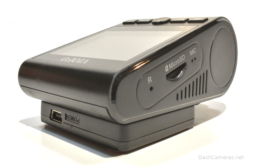 Side view of A129 Duo Pro with microSD card slot