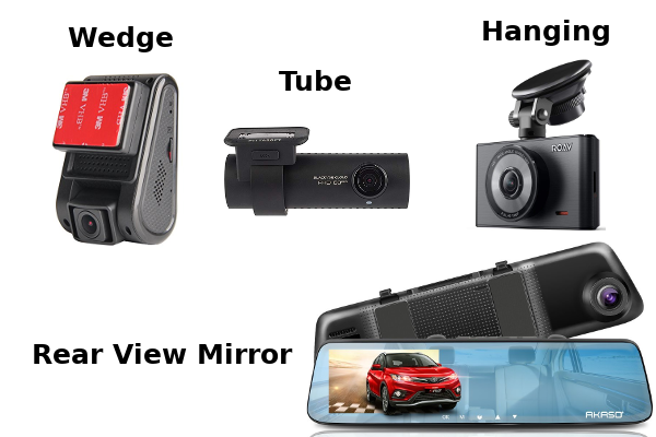 Dash Cam Shapes and Sizes