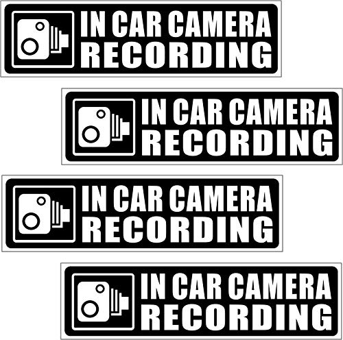 Dash Cam Recording Warning Sticker