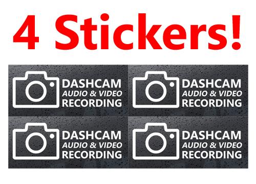 Dash Cam Warning Sticker