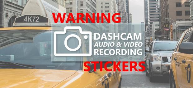 Dash Cam Warning Stickers