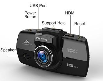 DBPOWER 2k Dash Cam