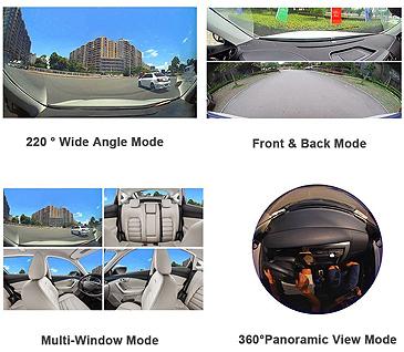 DR PRO Dash Cam Lens Angle Modes