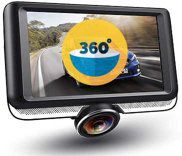 dash cam with 360 degree lens full coverage read review. Black Bedroom Furniture Sets. Home Design Ideas