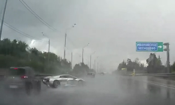 Lamborghini Dashcam Crash