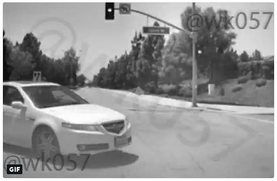 Tesla Dash Cam Footage