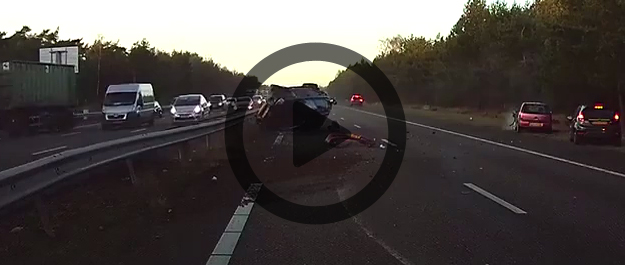 Dash Cam Video Shows Tesla Car Predict & Avoid Crash