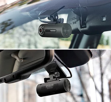 Thinkware F70 mounted to car windshield