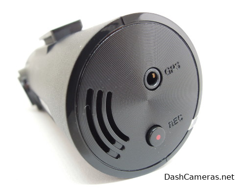 Thinkware F70 side view with GPS plug