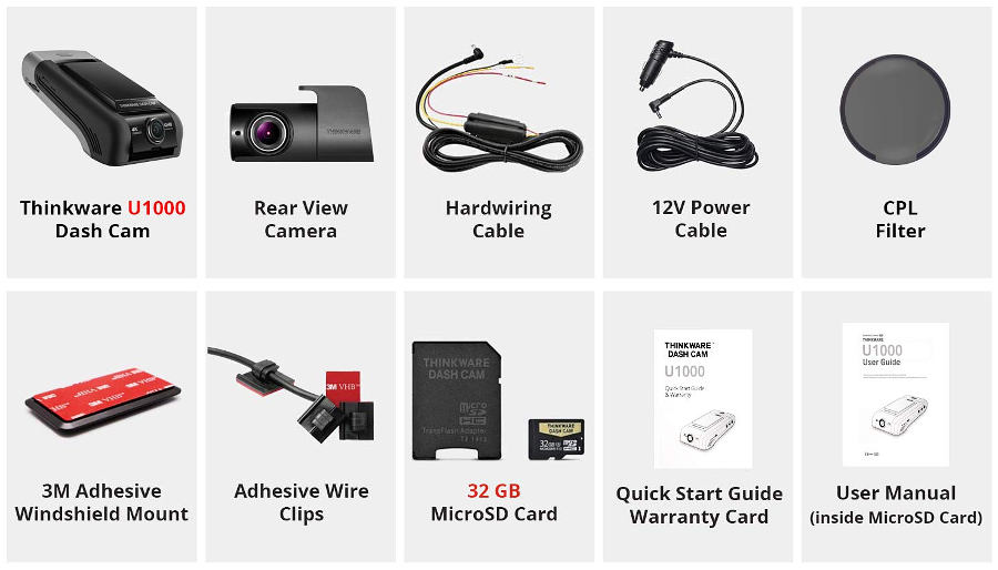THINKWARE U1000 Accessories