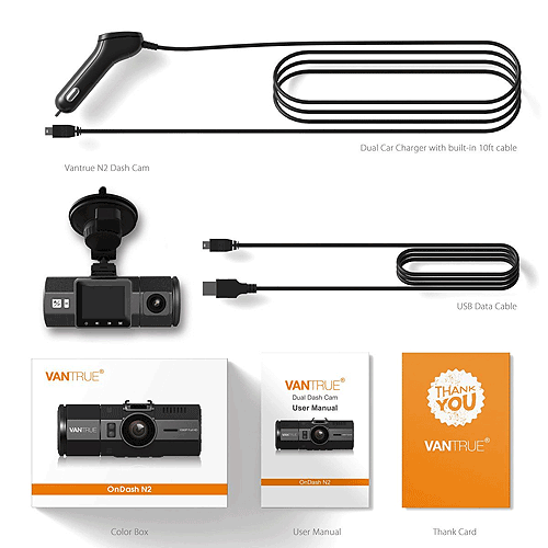 Vantrue N2 Dash Cam contents