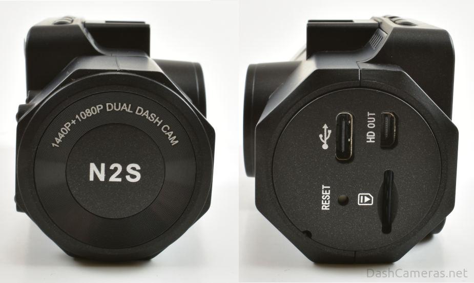 Vantrue N2S dash cam side view
