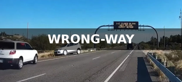 Wrong-Way Driver Captured on Dash Cam