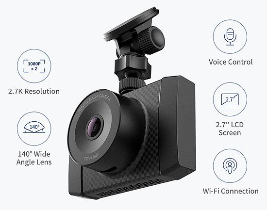 YI 2.7K Ultra Dash Cam Specs